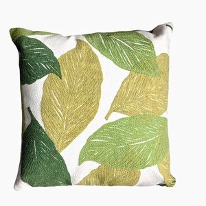 Boho Plant Inspired Embroidered Throw Pillow Case